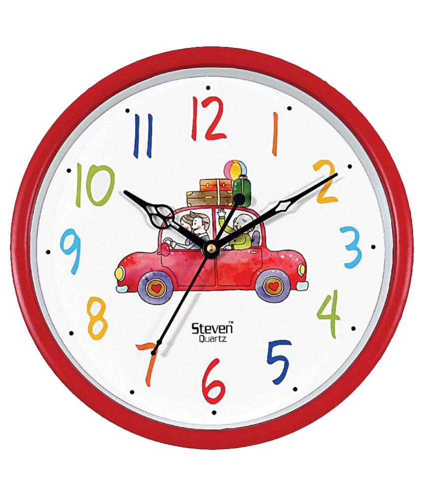 Steven Quartz Circular Analog Wall Clock 23 Buy Steven