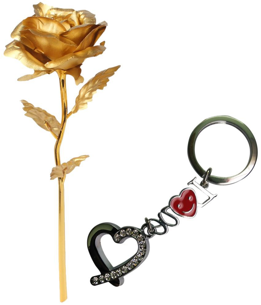 Gold Dust Alloy Valentine Roses Gold