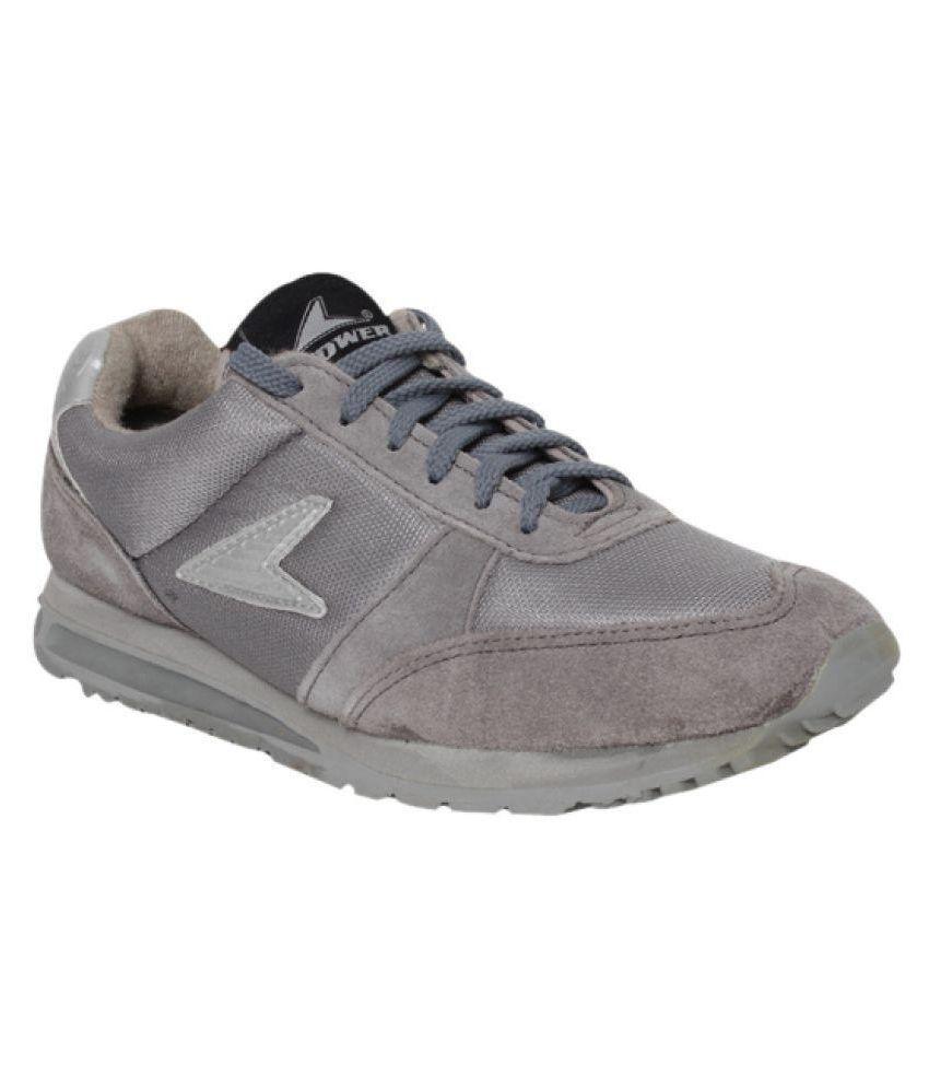 Bata Power Gray Running Shoes - Buy