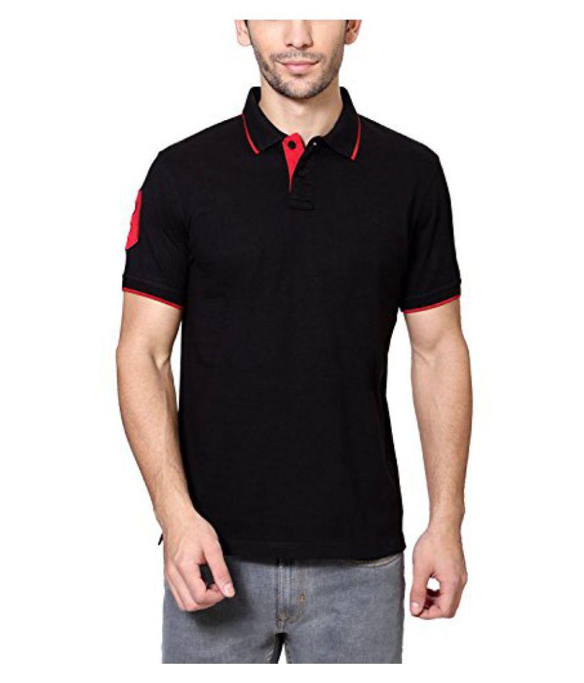 Peter England Regular Fit T Shirt _EKP100190_S_Black