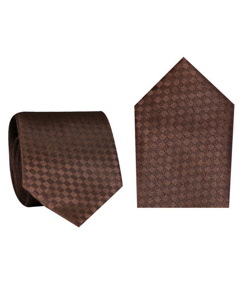 Posto Neckties Brown Formal Necktie
