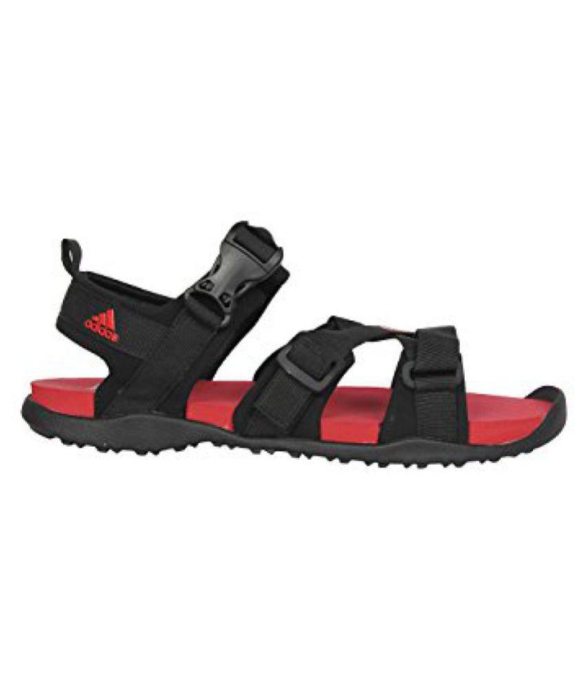 247682ae6eba ADIDAS Men GLADI M Black-Red Sandals - Buy ADIDAS Men GLADI M Black ...