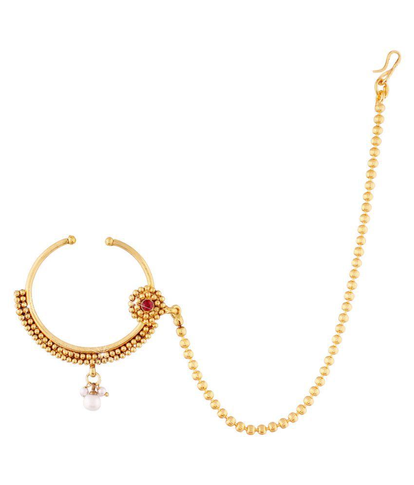 I Jewels Golden Nath Buy I Jewels Golden Nath Online In