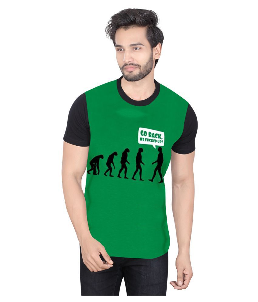 LUCfashion Green Round T-Shirt