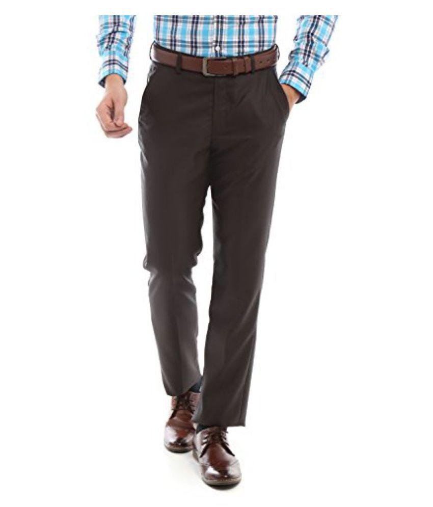 Peter England Slim Fit Pants _ PTF61500194_28_ Brown