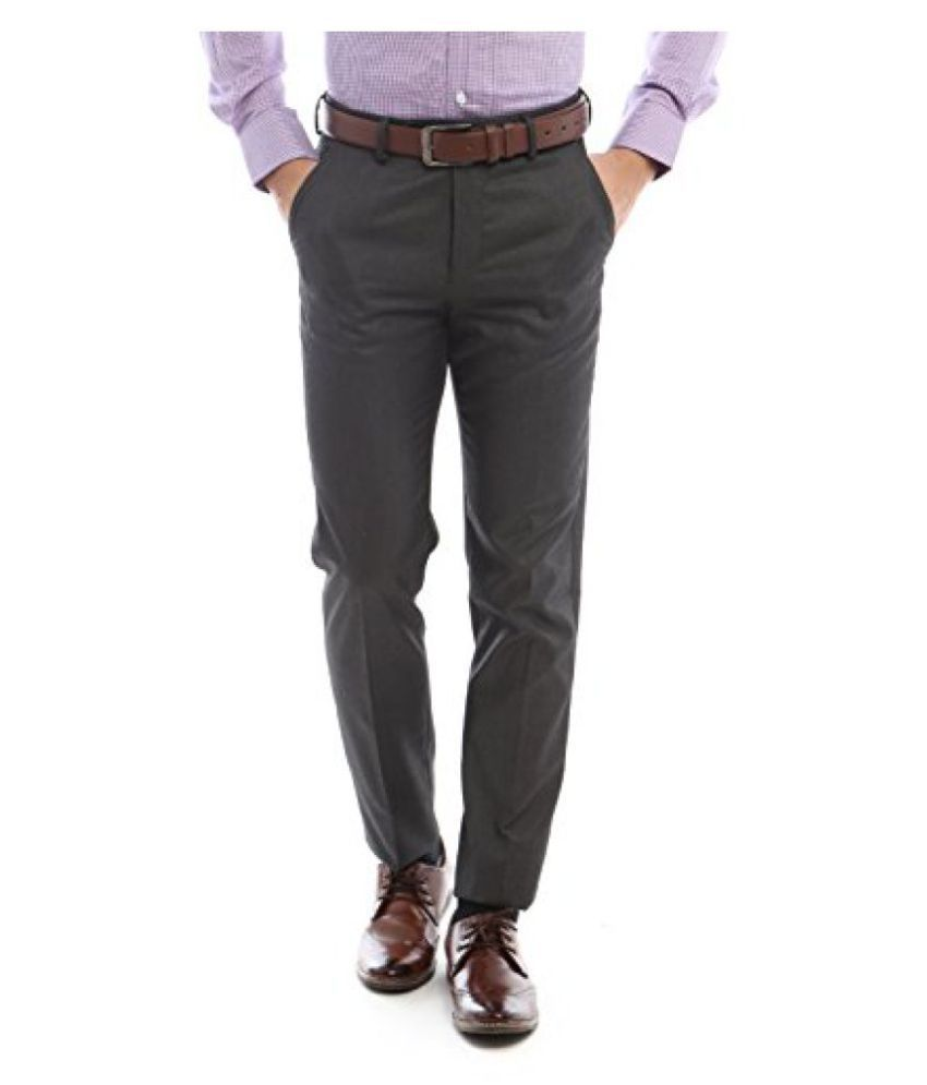 Peter England Slim Fit Pants _ PTF61500203_28_ Grey