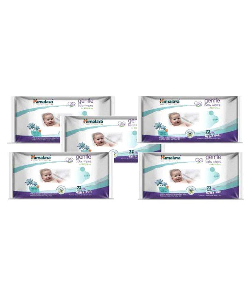 Himalaya Gentle Baby Wipes - Pack of 5