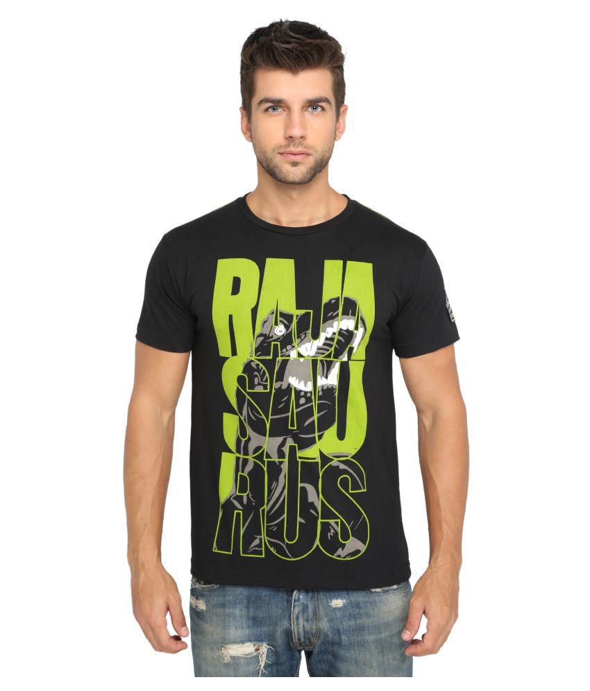 Imagica Black Round T-Shirt