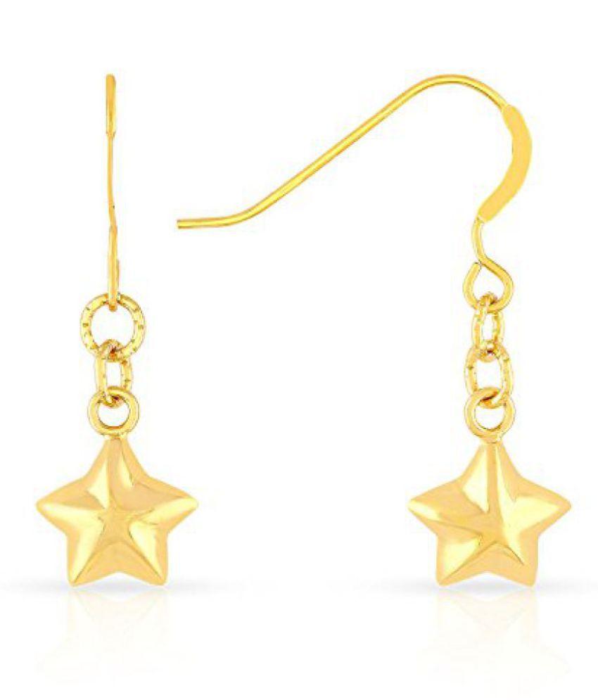Malabar Gold and Diamonds 22K (916) Yellow Gold Drop Earrings