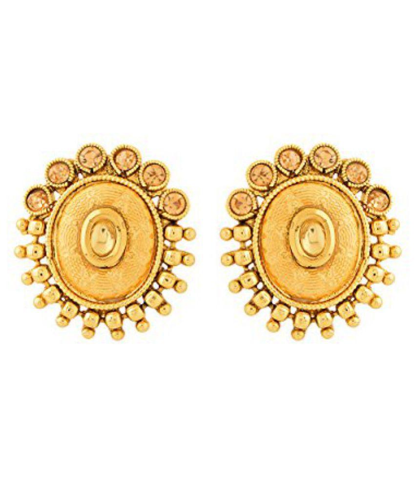Voylla Oval Shape Fashionable Earring