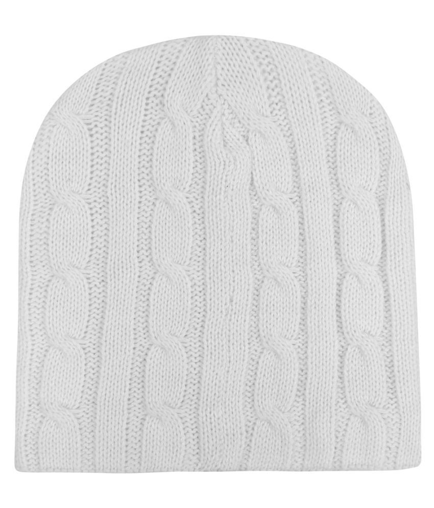 bbbb9ae3e7c Noise White Beanie Cap  Buy Online at Low Price in India - Snapdeal