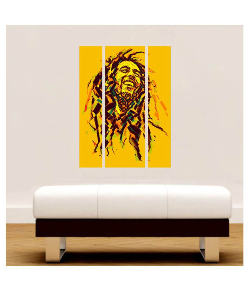 Impression Wall Bob Marley Wall Painting PVC Multicolour Wall ...
