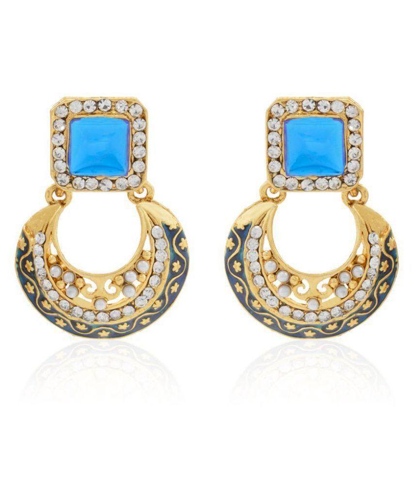Styylo Fashion Exclusive Blue White Earrings Set