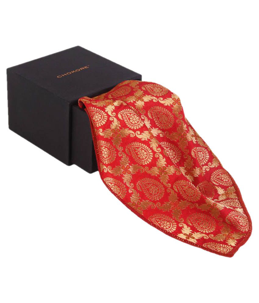 Chokore Red Silk Pocket Square