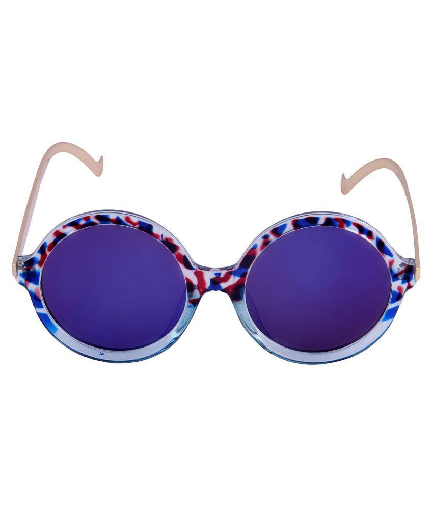 Di Tutti Blue Round Sunglasses ( SD6009BLUE )