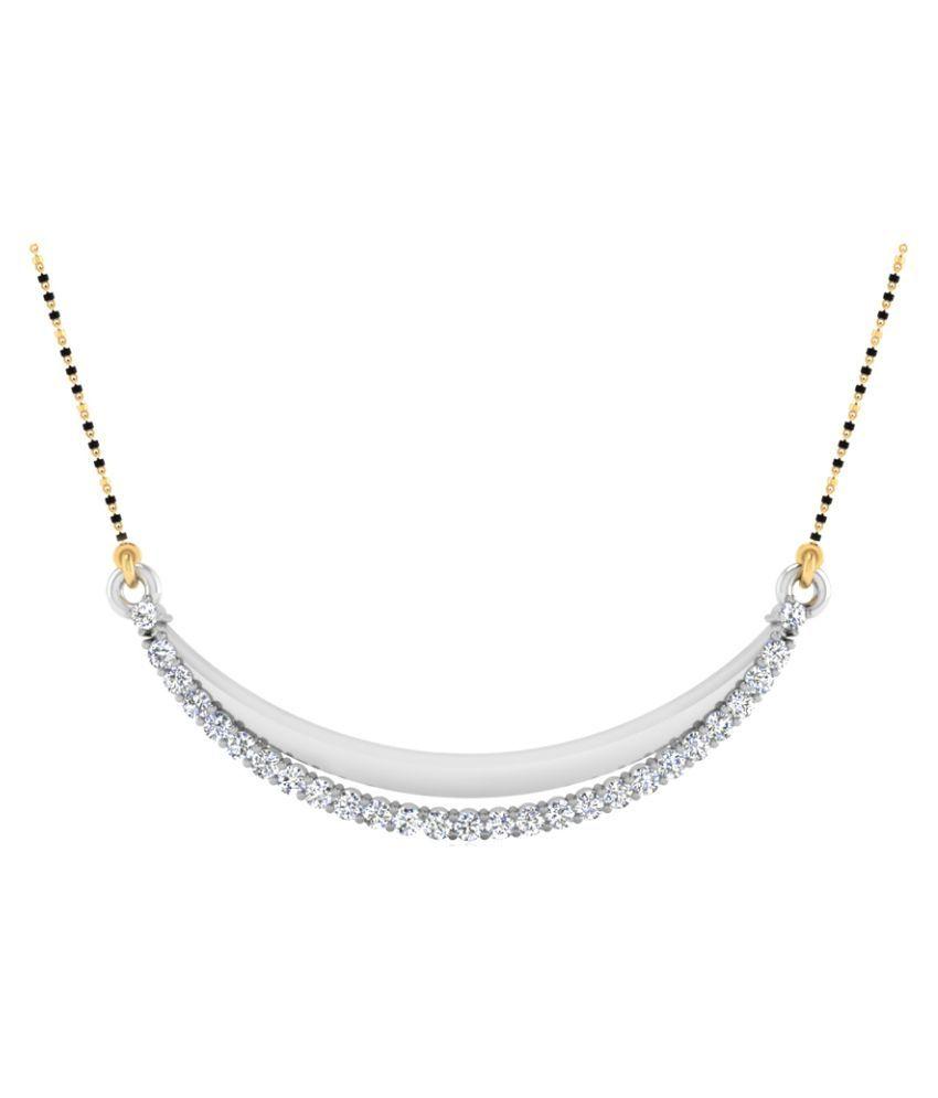 NaginabyIskiUski 14k White Gold Diamond Mangalsutra