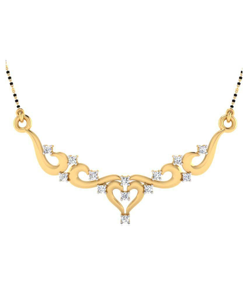 NaginabyIskiUski 14k Yellow Gold Diamond Mangalsutra
