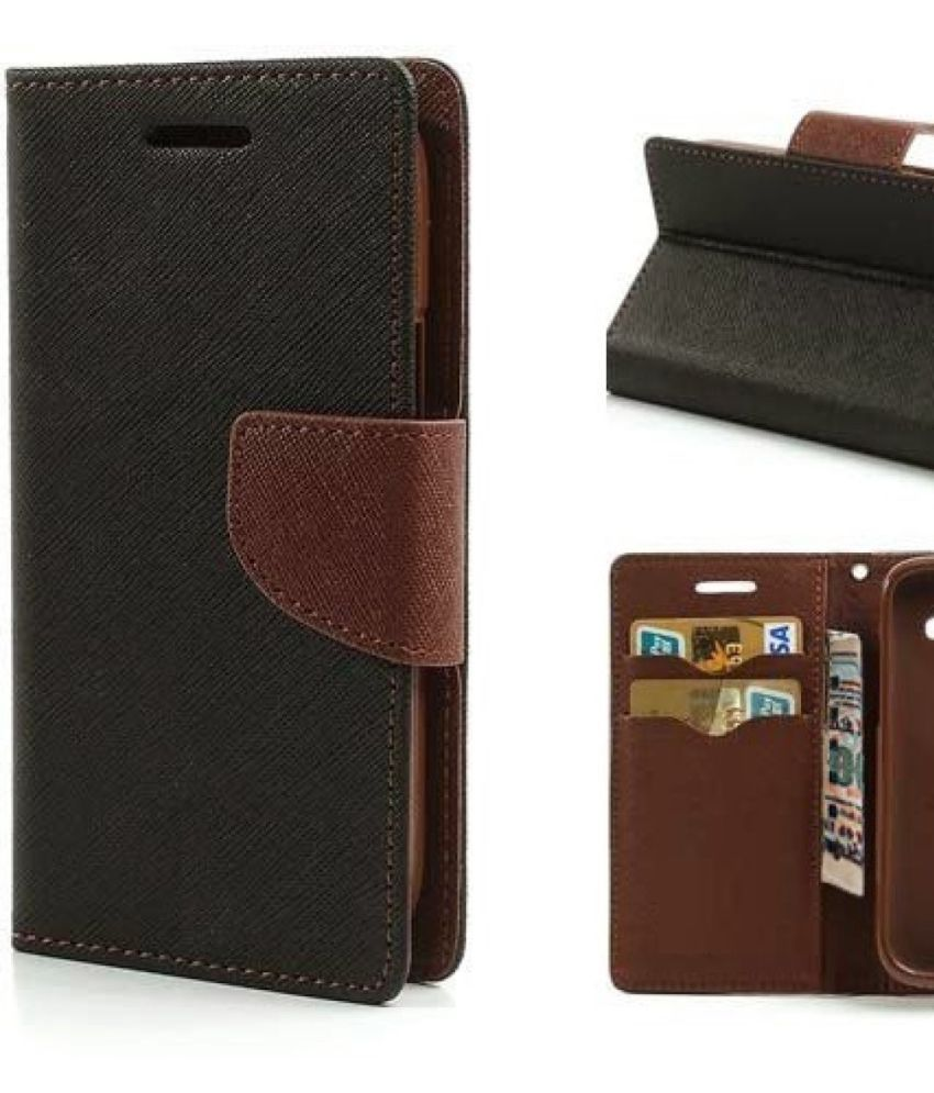 Oppo Neo 5 Flip Cover by Top Grade - Brown