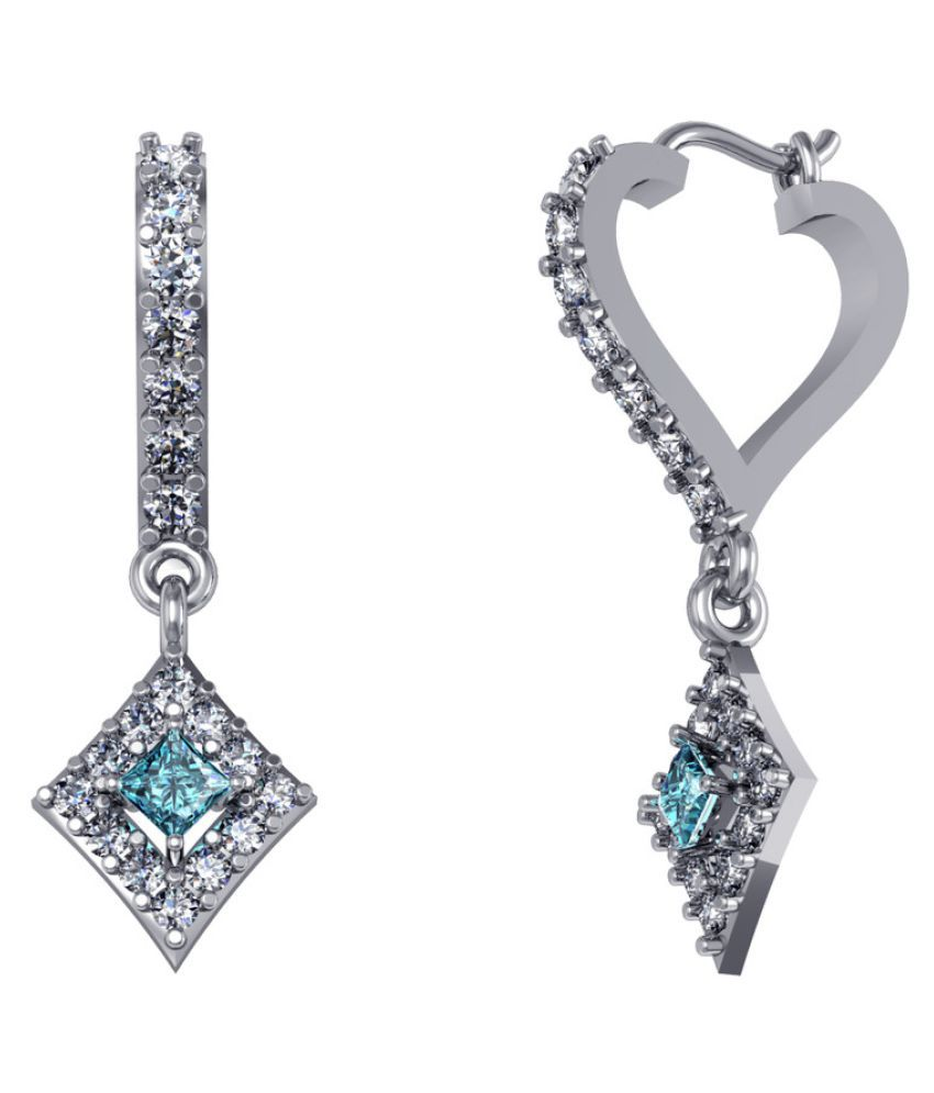 Suvam jewels 92.5 Silver Swarovski Hoop