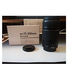 Canon EF 75-300mm f/4-5.6 III Telephoto Zoom Lens for Canon EOS 7D 60D EOS 70D Rebel SL1 T1i T2i T3 T3i T4i T5 T5i XS XSi XT & Xti
