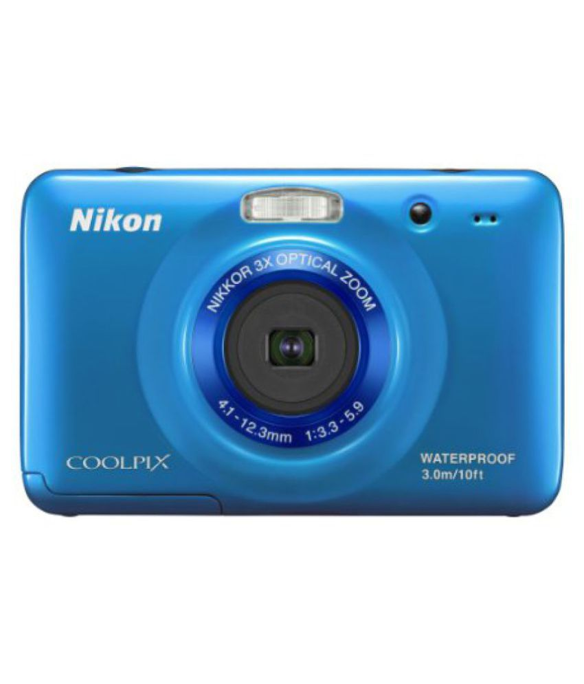 Nikon COOLPIX S30 10.1 MP Digital Camera with 3x Zoom Nikkor Glass Lens and 2.7-inch LCD White Blue