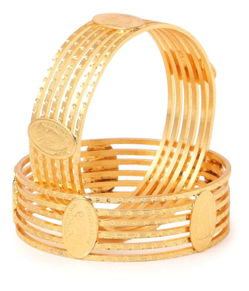 Atishya Shri Brass Golden Bangle