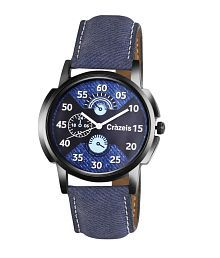 Crazeis Blue Analog Watch