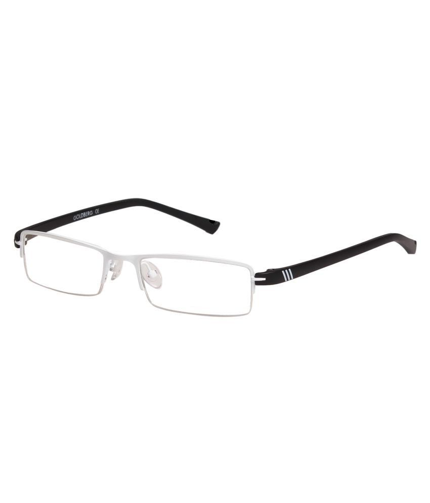 Gold Berg Black Rectangle Spectacle Frame GB-03_C11