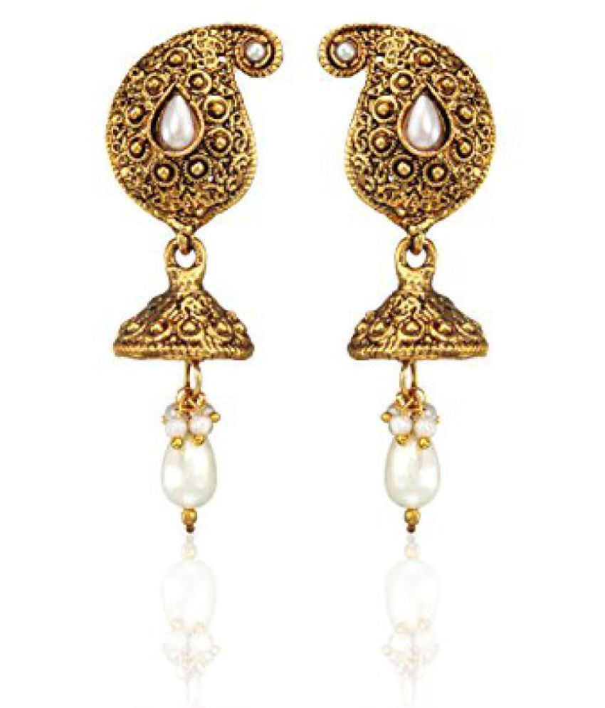 Zaveri Pearls Ethnic Mango Jhumki Earring for Women-ZPFK3625