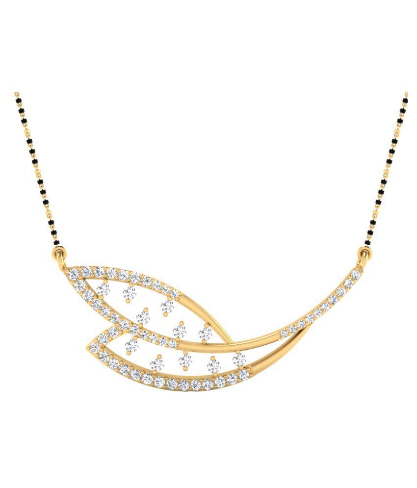 NaginabyIskiUski 14k Yellow Gold Diamond Mangalsutra