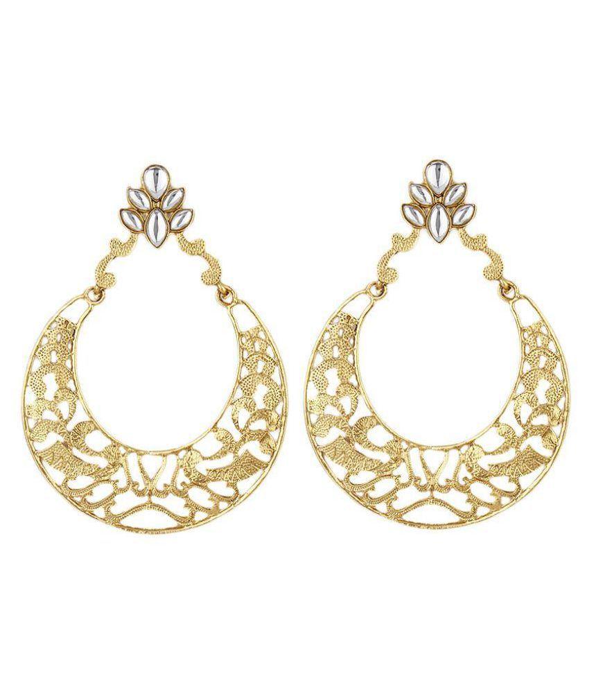 Jewels Guru Golden Chandelier Earrings