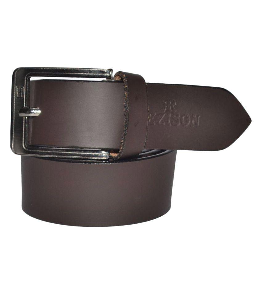 Rezison Brown Leather Formal Belts