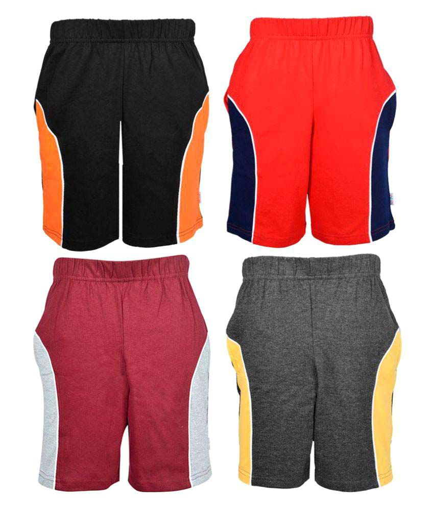 Gkidz Multicolored Bermudas Pack Of 4