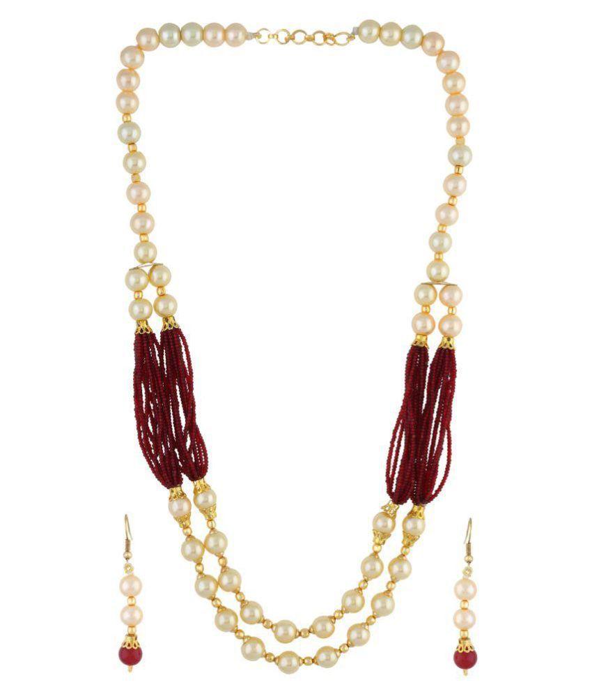 Vishakapearlsandjewellers Multicolour Necklace Set