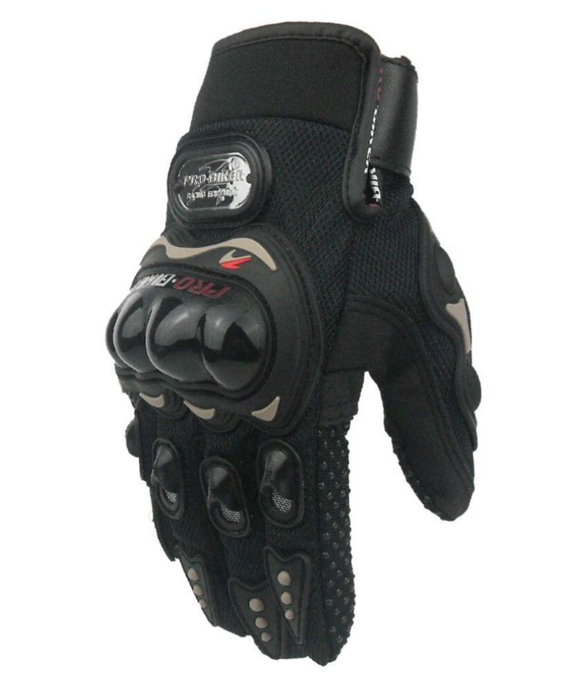 Black riding gloves -  Bikers World Black Riding Gloves