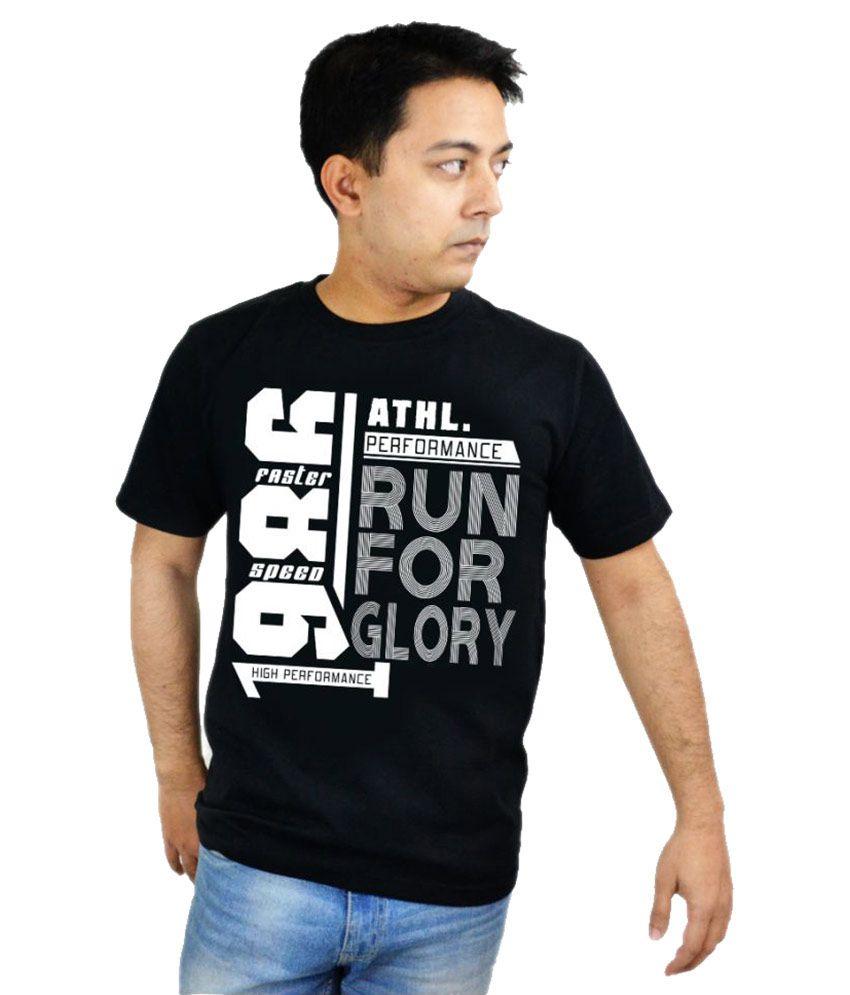 Makx Black Round T-Shirt