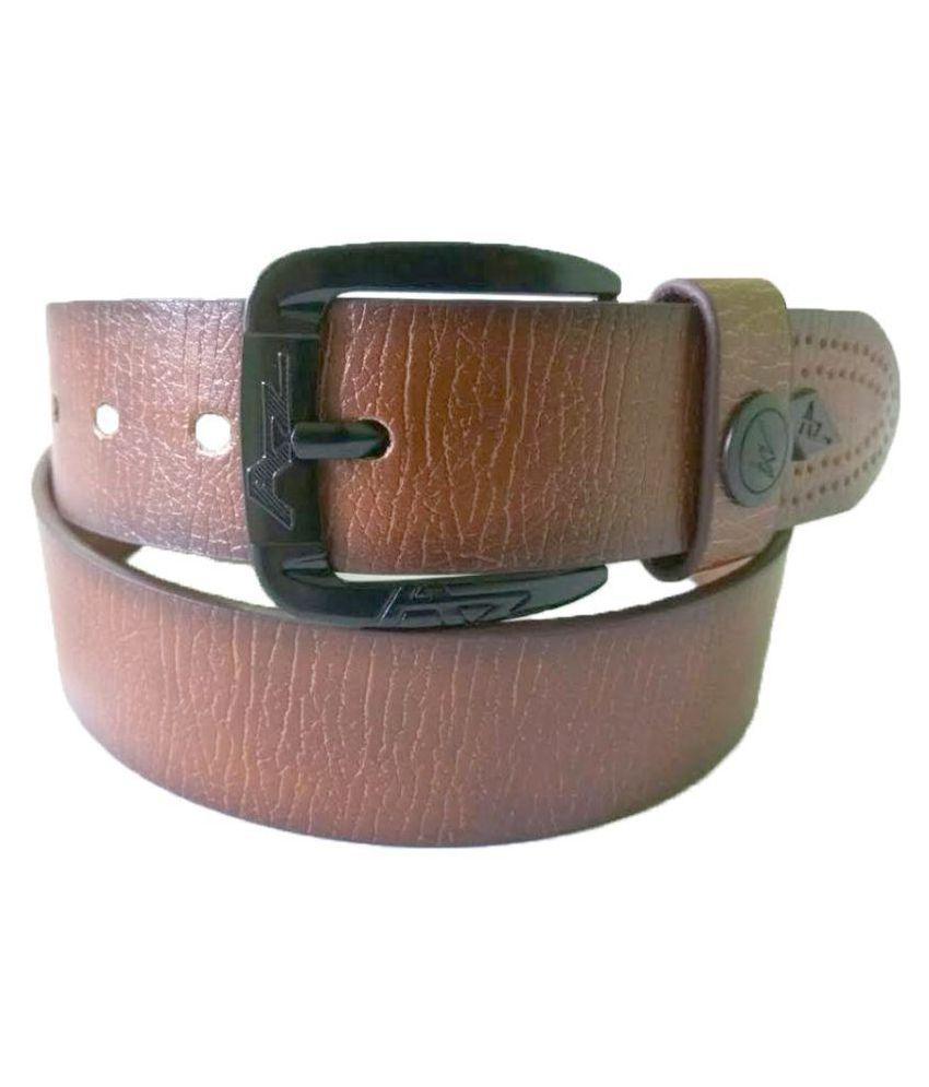 ZA Brown PU Casual Belts