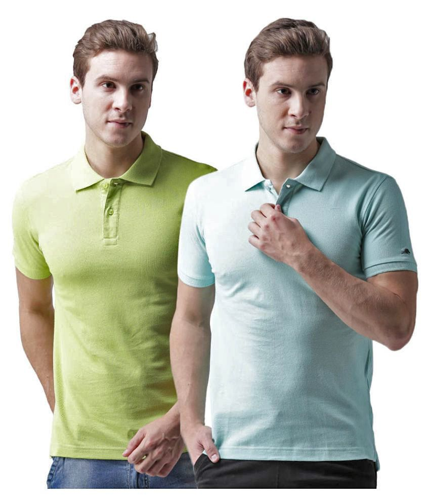 2GO Multi Regular Fit Polo T Shirt Pack of 2