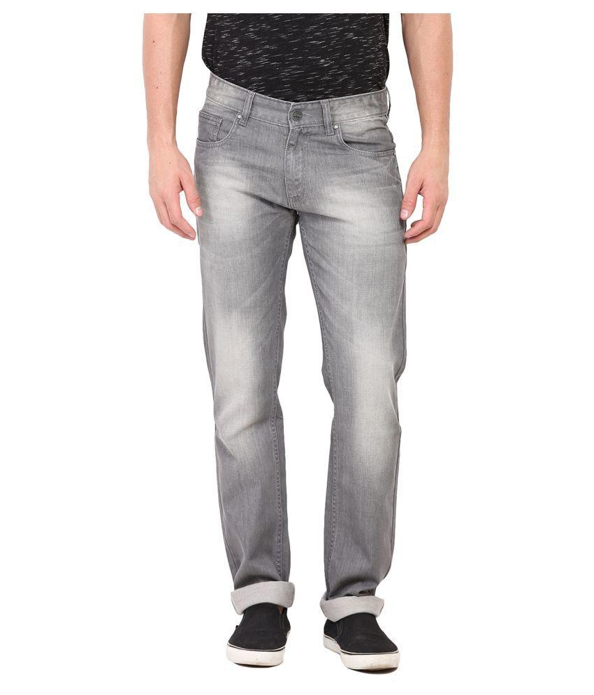 Dais Grey Regular Fit Jeans