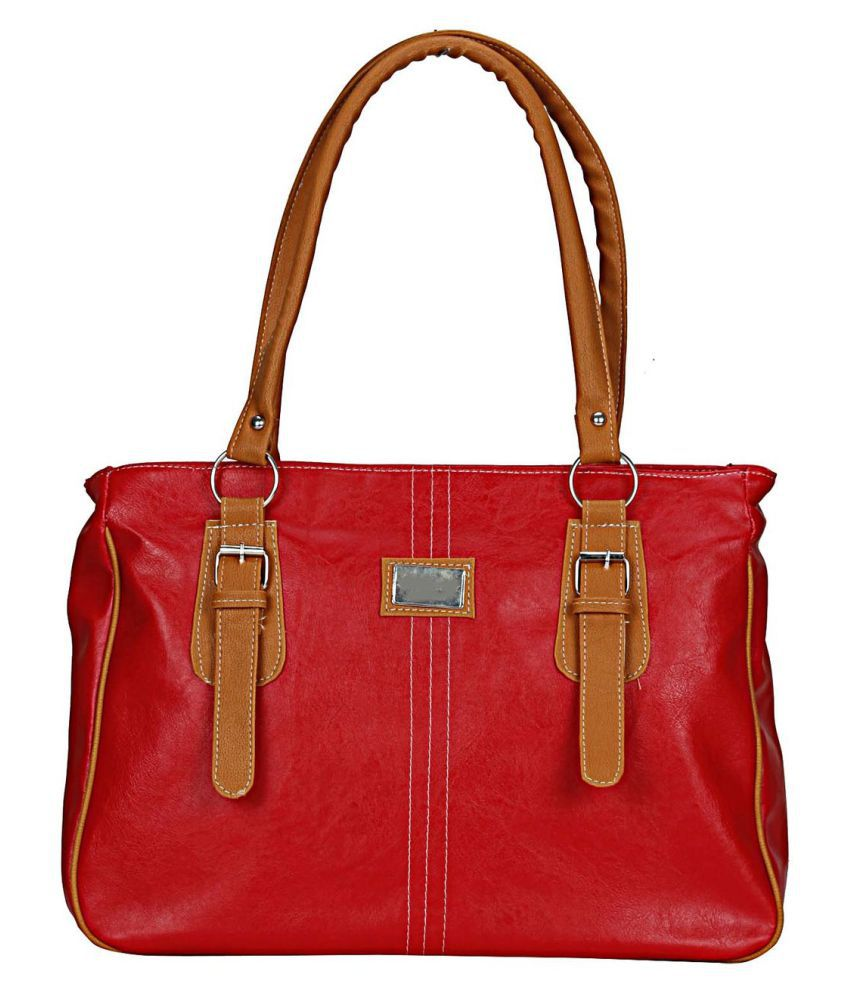 Maeva Red Artificial Leather Handheld