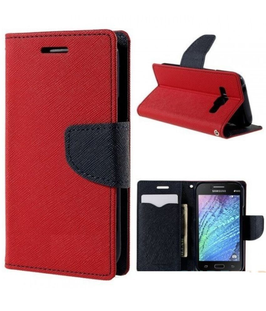 Sony Xperia C5 Flip Cover by MV - Red