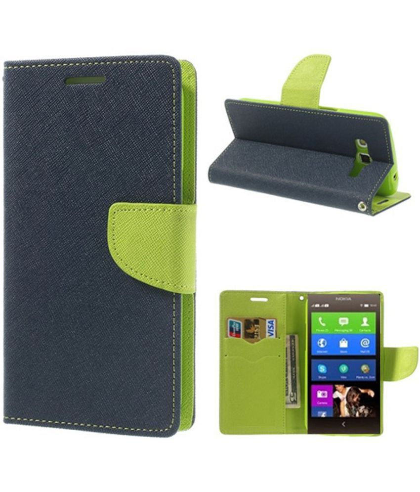 Lenovo A6000 Flip Cover by Cover Wala - Blue