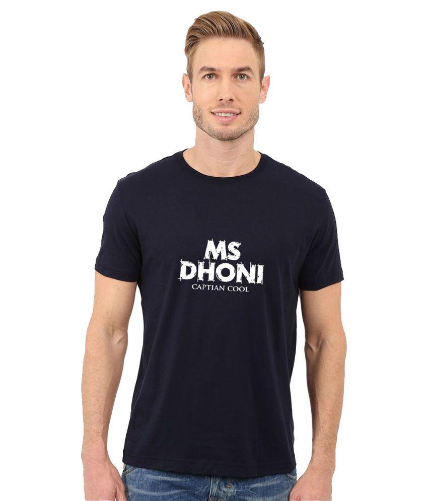 Redfool Fashions Navy Round T-Shirt