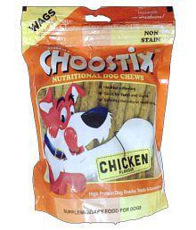 Choostix Dog Treats Dry Chicken & Veg