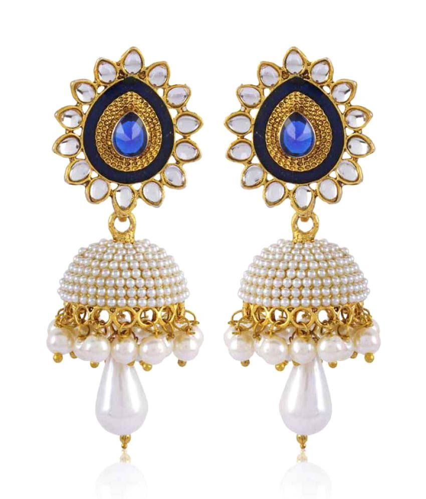Rich Lady White Jhumki