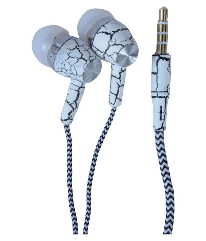 Reliable Zebra Super Sound In Ear Wired Earphones With Mic White