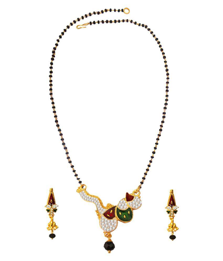 Pihu Multicolour  Bollywood kajol inspired Suhag black beads  Mangalsutra