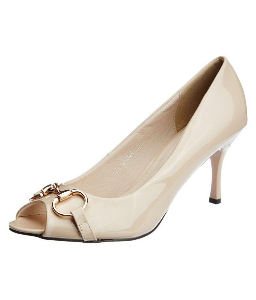 Carlton London Beige Stiletto Heels