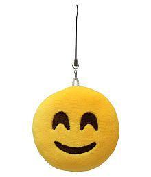 MagiDeal Round Stuffed Plush Emoji Charm Key Chain Strap Smile