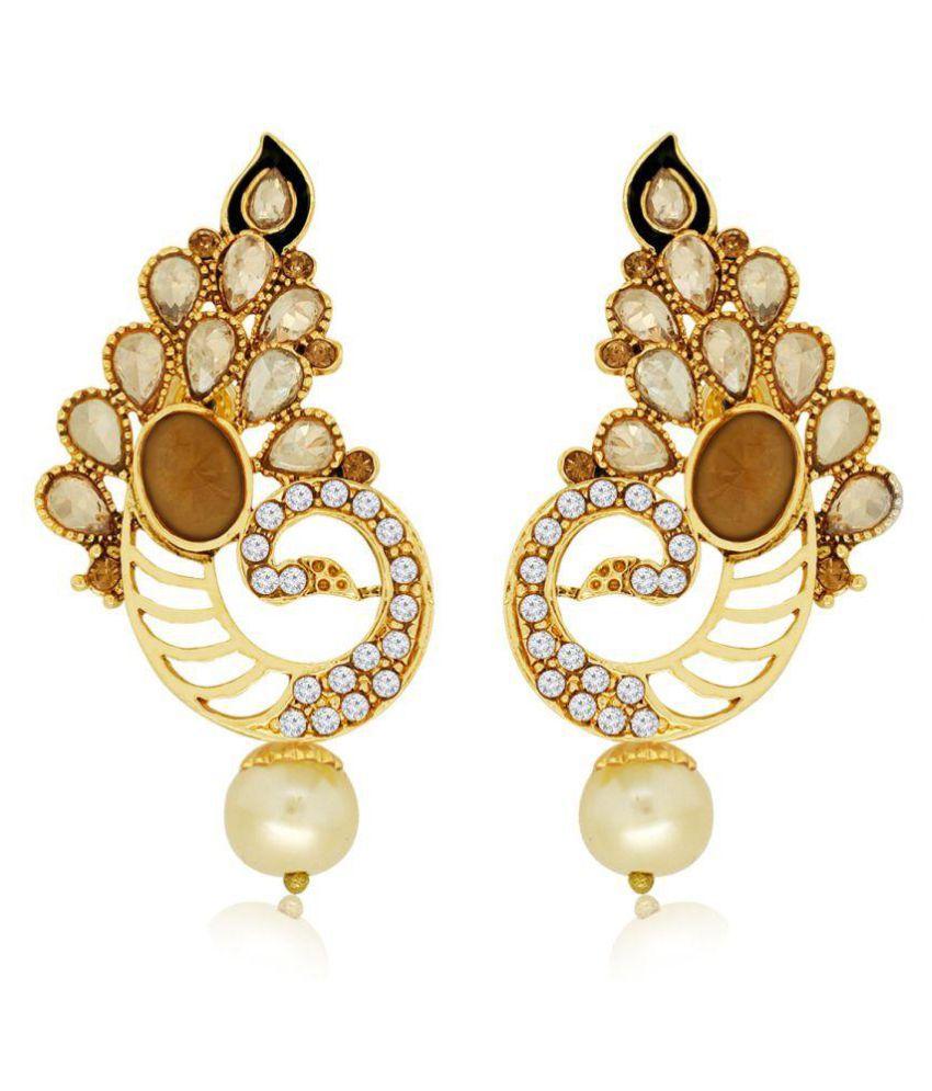 Spargz Golden Hanging Earrings